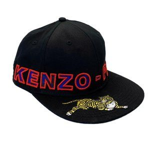 KENZO x H&M Men's Black Embroidered Hat Cap